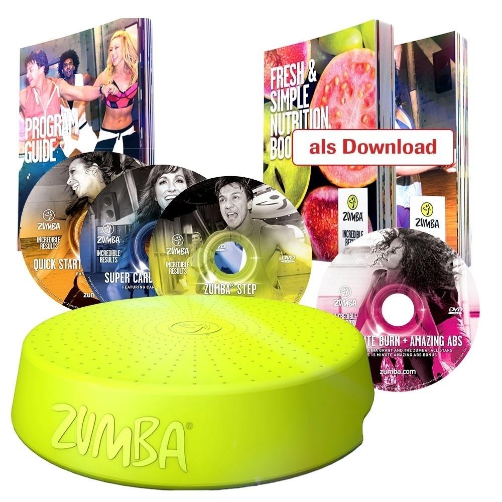 zumba set inkl 4 dvds stepper b ware aerobic fitness. Black Bedroom Furniture Sets. Home Design Ideas