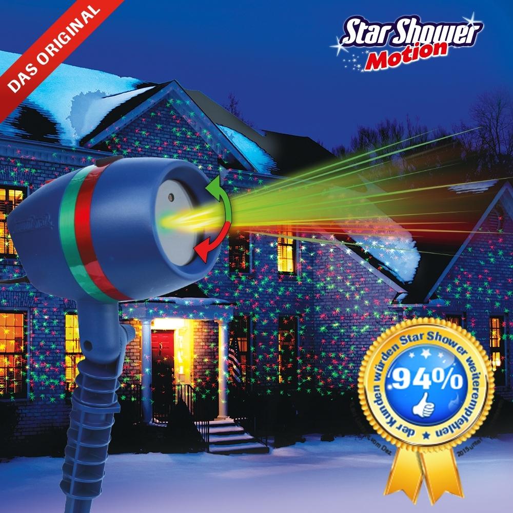 Star shower motion laser mit spitz fernbedienung for Projecteur laser star shower motion