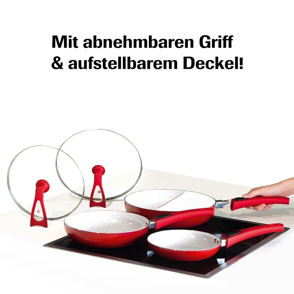 duo 2 magic premium pfannenset d nsten kochen abnehmbar. Black Bedroom Furniture Sets. Home Design Ideas