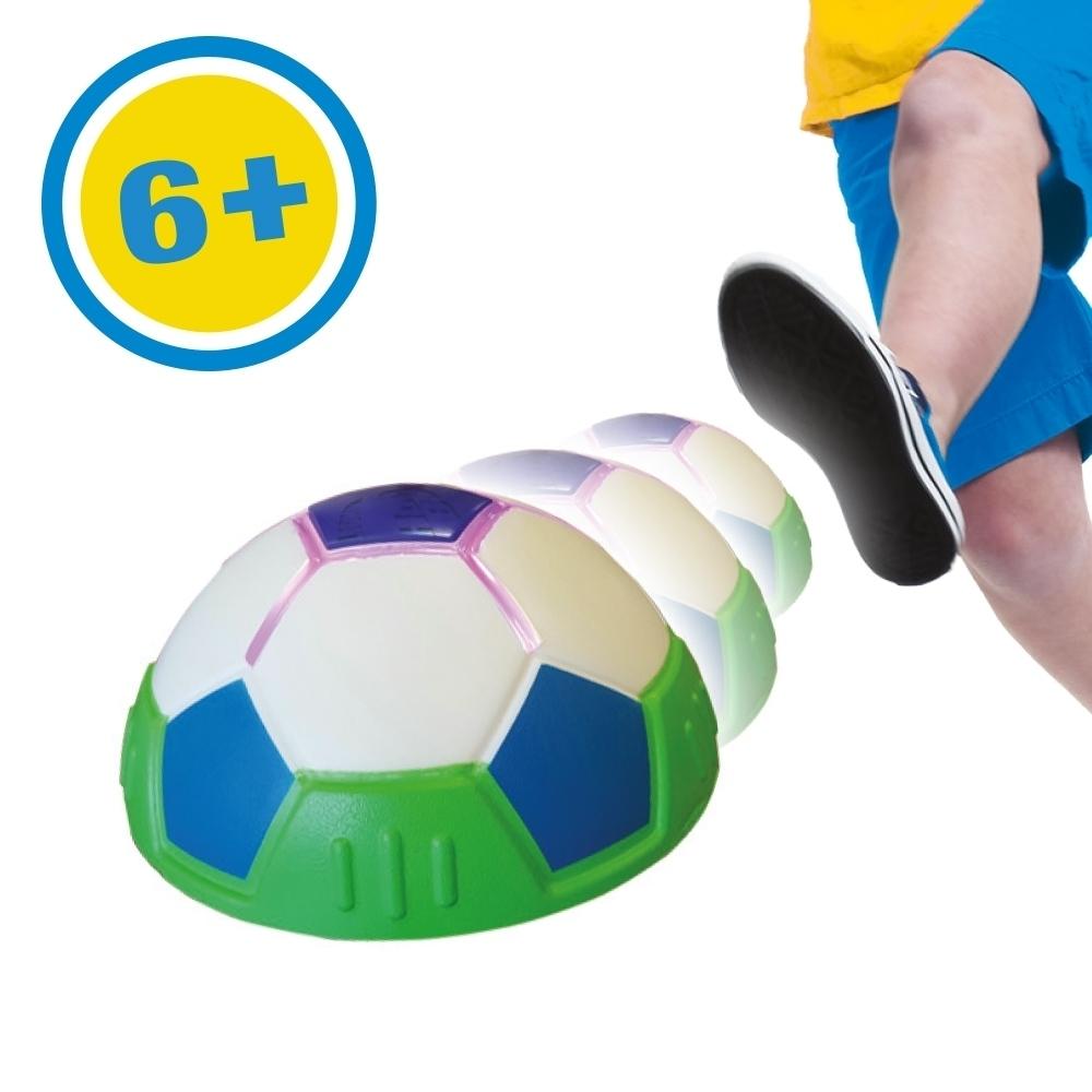 Fußball LED Lichteffekt halber Ball Gleitball Mediashop Hover Ball Indoor 2 Stk Fußball