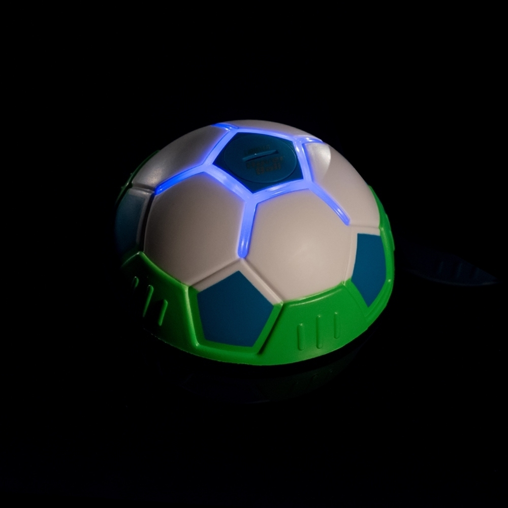 Fußball Hover Ball Indoor 2 Stk Fußball LED Lichteffekt halber Ball Gleitball Mediashop